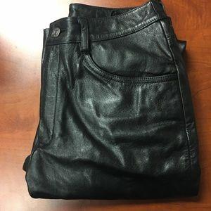 Wilson black leather pants